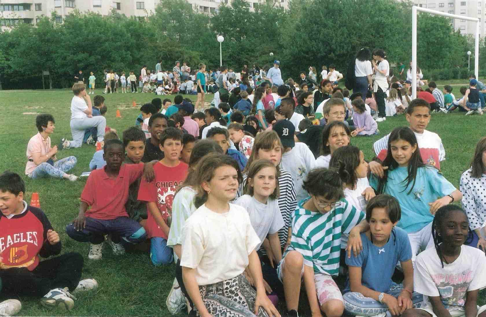 """""""Les foulées scolaires massicoises"""" organisé par le CIFORDOM avec les établissements scolaires de Massy depuis 1994"""