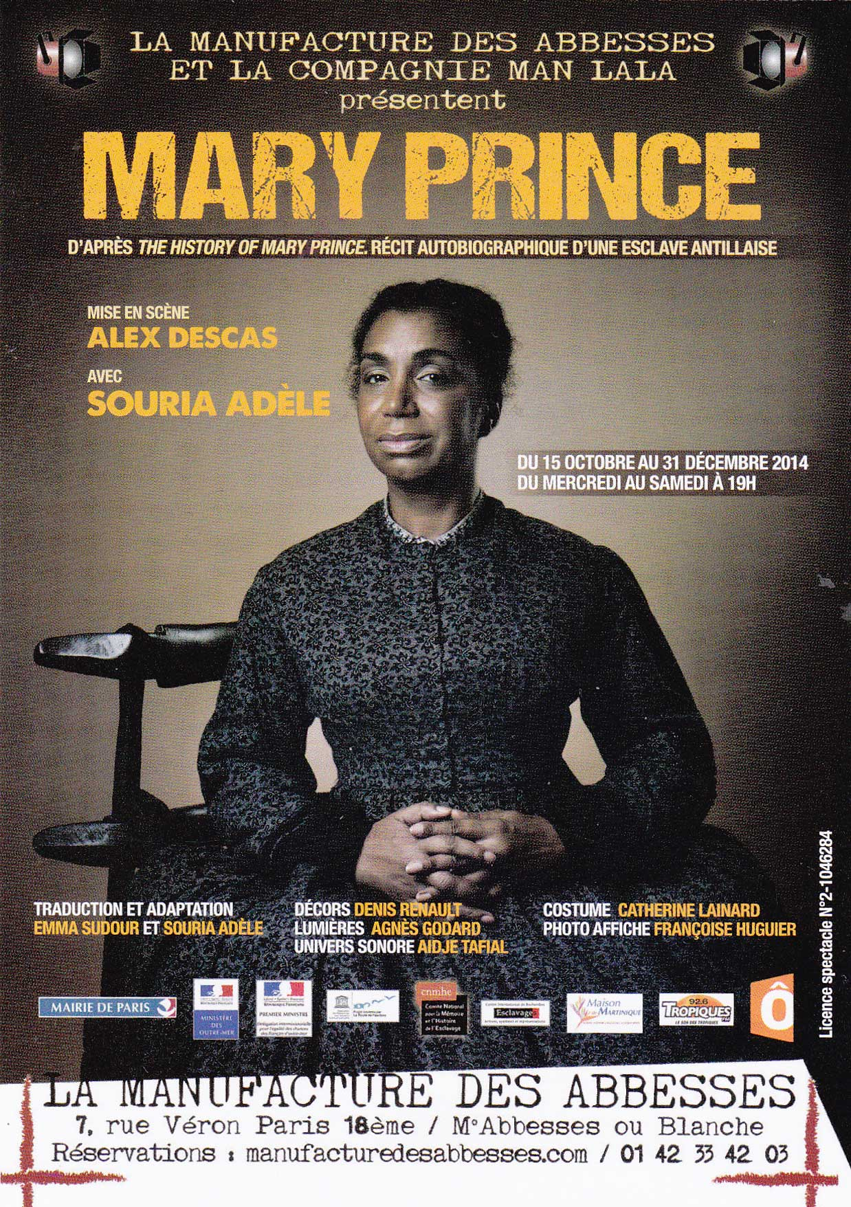 Affiche Mary Prince