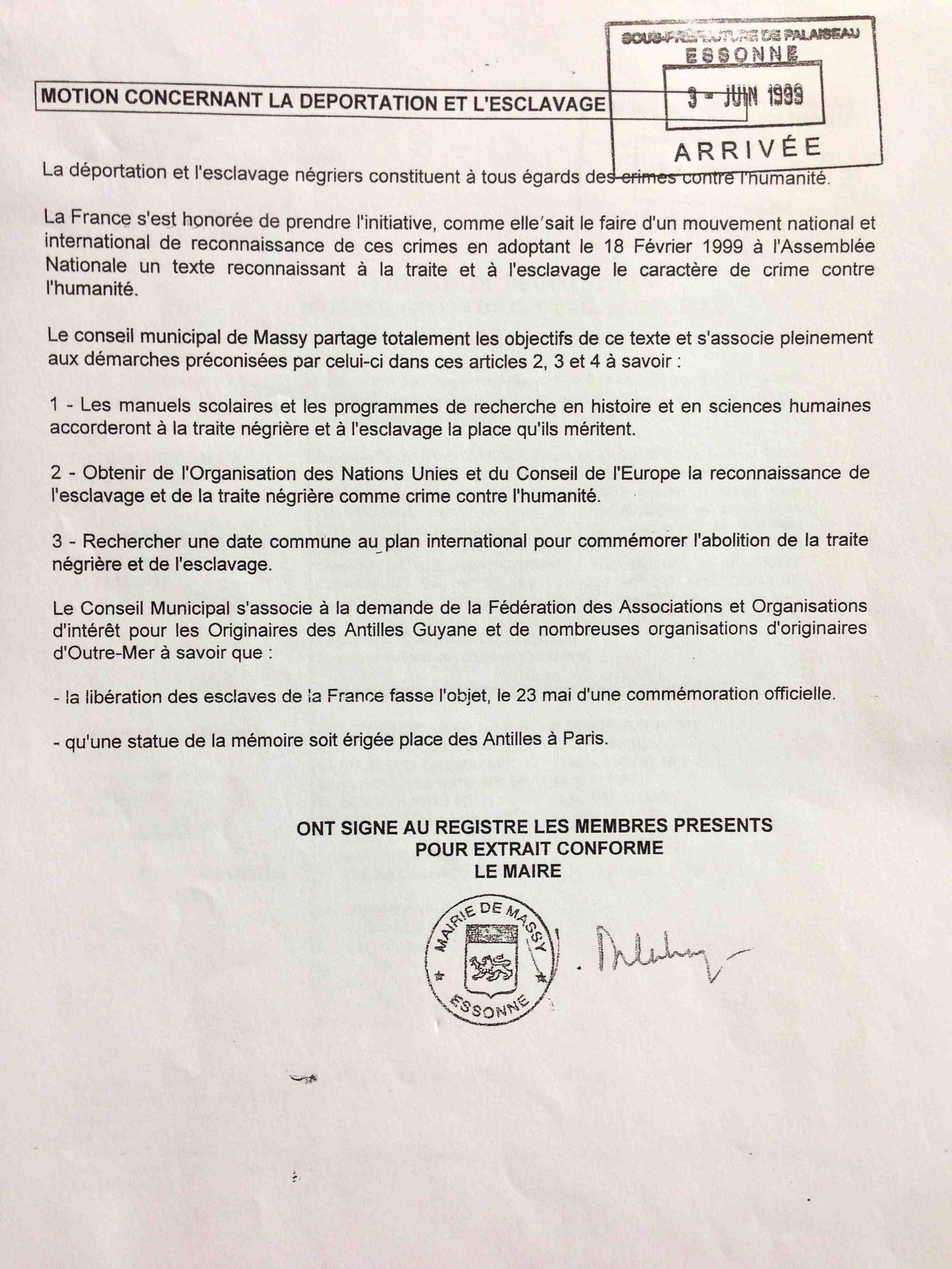 deliberation du conseil municipal du 6 mai 1999 - 2