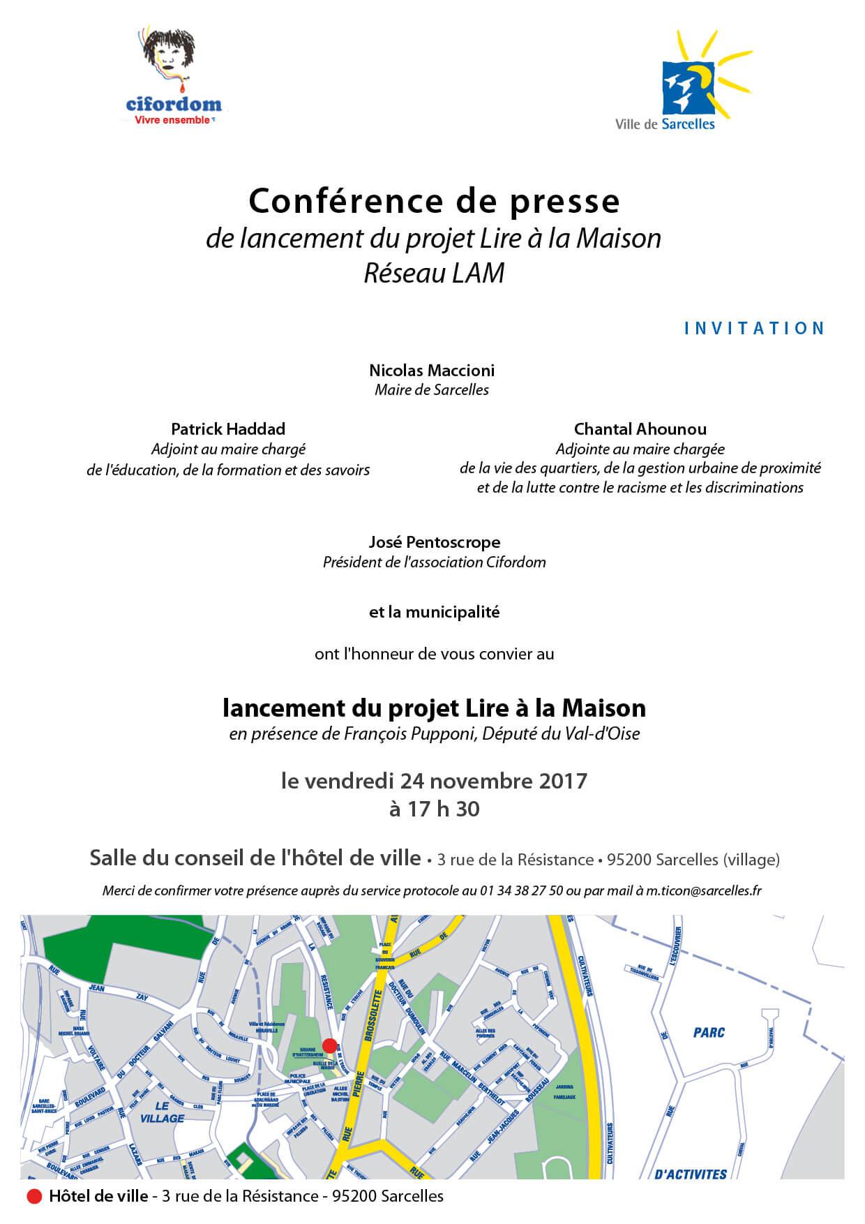 Invitation Conférence de presse réseau LAM
